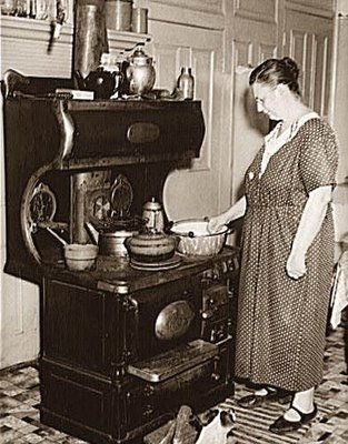 Significance of antique wood cook stoves traditional for Old black and white photos for sale